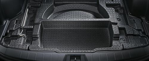 床下収納も十分なサイズのものが装備されています。汚れたものなどを収納するのに最適です。