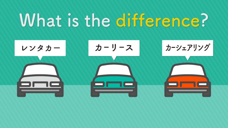 カーリースとレンタカー、カーシェアリングの違いとは