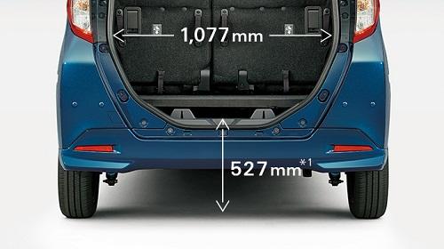 低い荷室フロア高と幅広い開口部で荷物の積み降ろしがしやすいのも魅力