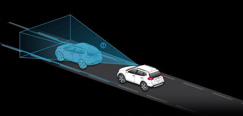 下り坂での設定速度維持や従来よりもスムーズな減速を実現するブレーキ操作が可能