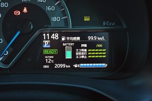 燃費性能に定評のあるトヨタのコンパクトカー、ヴィッツの燃費性能は?
