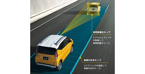 高速道路同一車線運転支援技術「MI-PILOT(マイパイロット)」(「G」「T」にパッケージメーカーオプション)とは