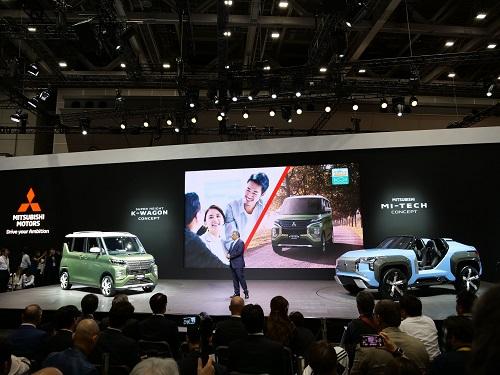 三菱はガスタービンによるプラグインハイブリッドのコンセプトカーと、もうすぐ登場する新型eKスペースのSUVタイプを発表