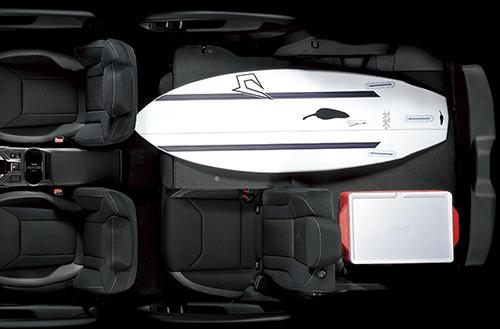 インプレッサスポーツの荷室の収納&座席アレンジ4
