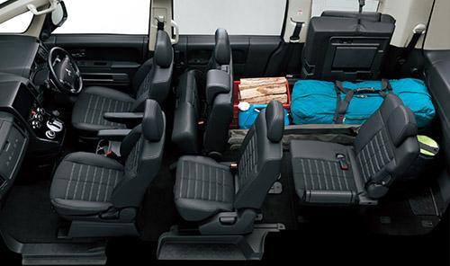デリカD:5の荷室&座席アレンジ 4