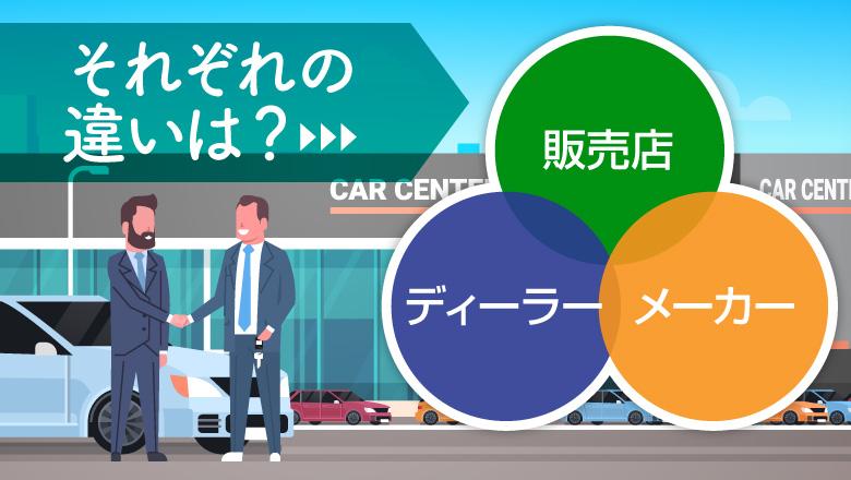 車のディーラーって何?サブディーラーやメーカーとの違いを徹底解説