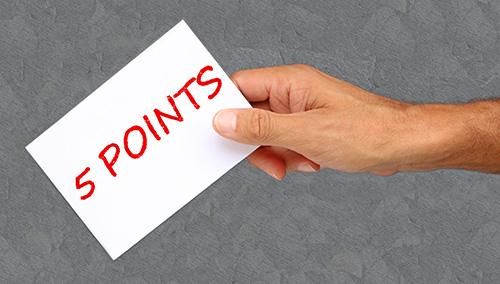 車の購入時に重視すべき5つのポイント