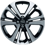 17インチの大径タイヤ&アルミホイールを採用