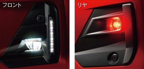 LEDシーケンシャルターンランプを標準装備