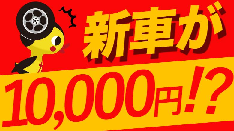 新車に1万円で乗れる!?安く車に乗れるサービスとは