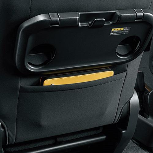 助手席シートバックポケット(「HYBRID MX」を除くグレードに標準装備)